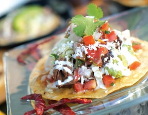 THE SHORT RIB TACO is one of more than a dozen specialty tacos at Sol Cocina, each inspired by a different culinary tradition. Photo by Susan Werner